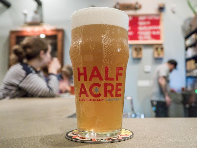 Half Acre Brewing Beer Glass
