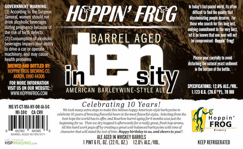 Hoppin Frog Barrel Aged In-Ten-Sity