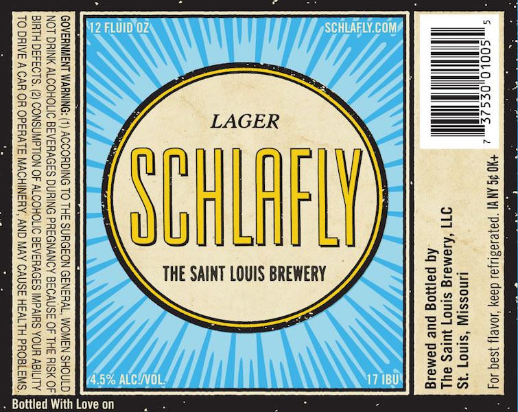 Schlafly Lager Label