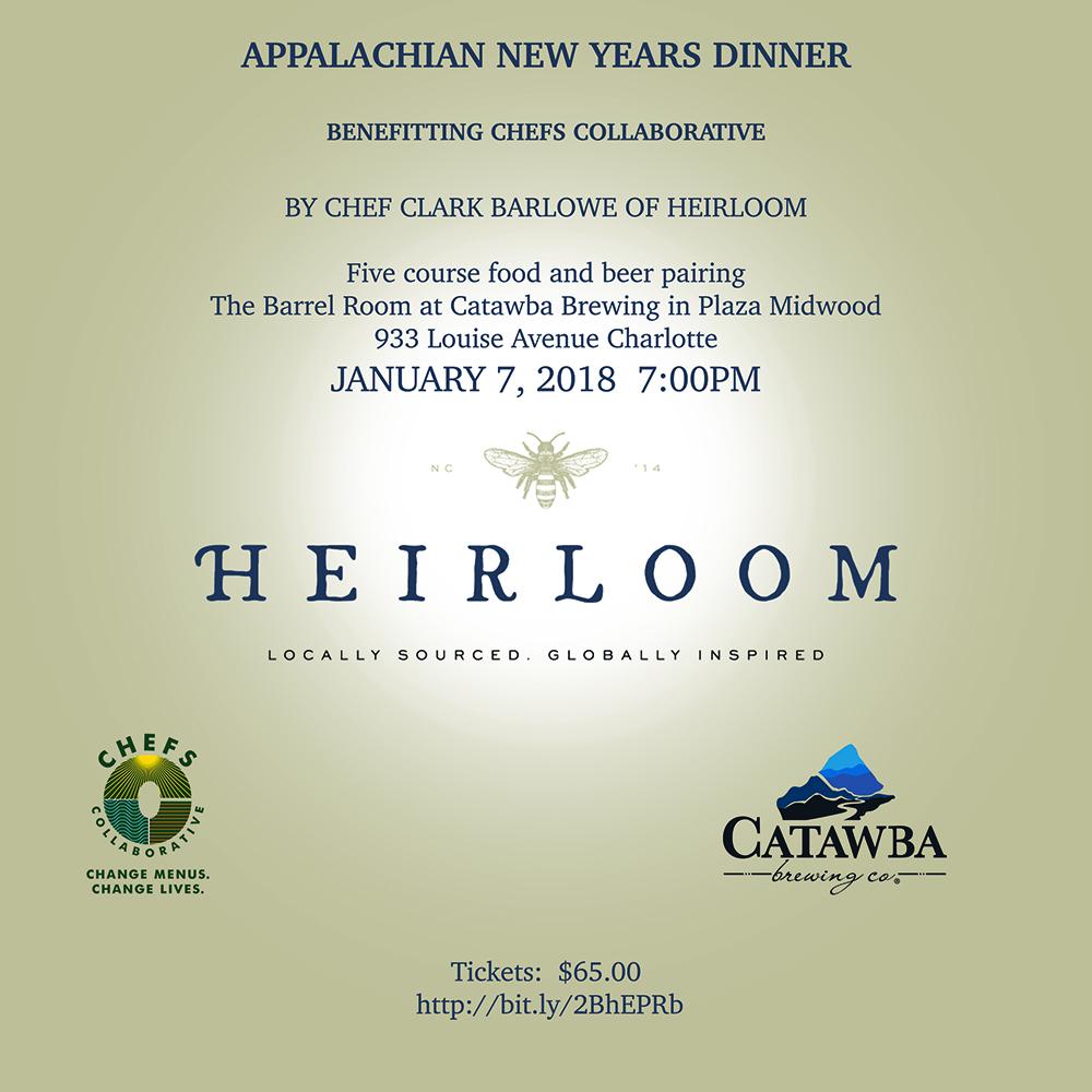 Catawba Brewing - Appalachian New Years Dinner