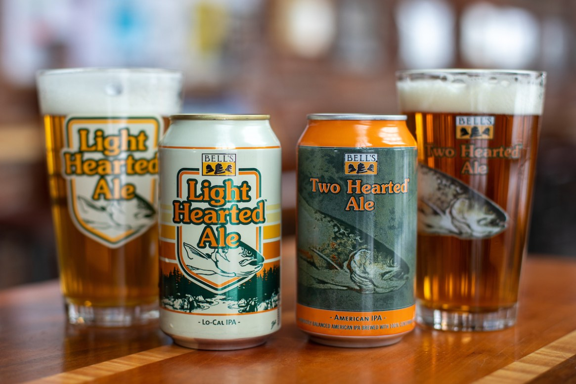 Bells Light Hearted and Two Hearted Ale