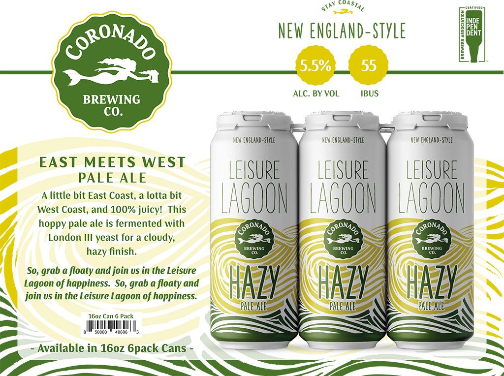 Coronado Brewing - Leisure Lagoon Hazy Pale Ale