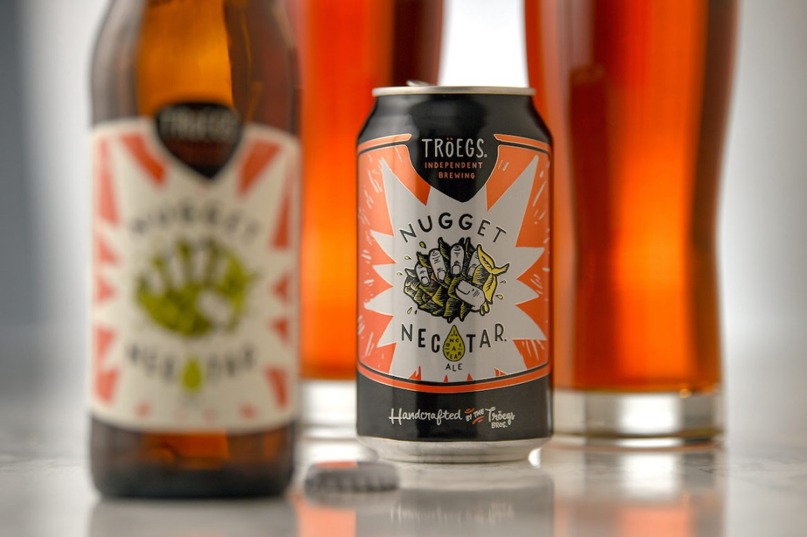Troegs Nugget Nectar 16 oz can