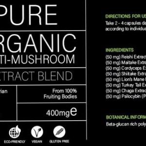 PURE – Organic Multi-Mushroom – 60 Capsules