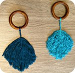 Macrame Feathers Plumes Macramé - The Funky Fresh Project