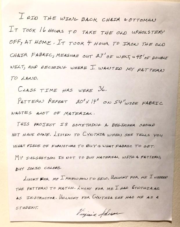 Virginia's letter