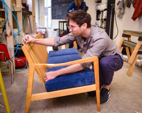 Jacey Reese, measuring for new cushions