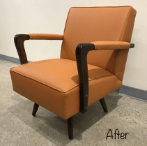 Midcentury rocker in vinyl by C.F. Stinson
