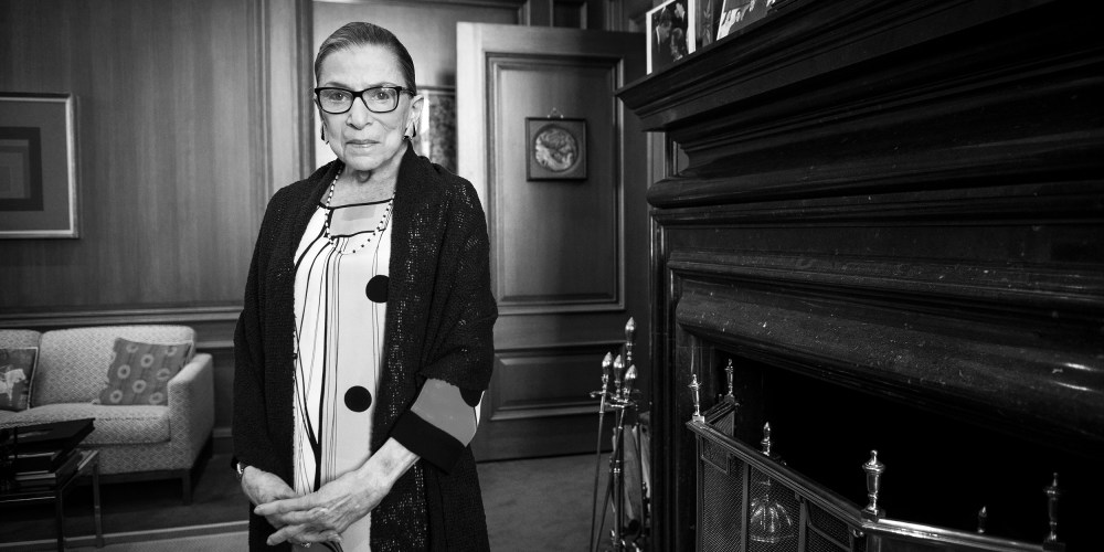 Ruth Bader Ginsburg in her chambers in at the Supreme Court on July 31, 2014.