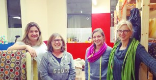 Tuesday evening Advanced Group, from left to right: Angela W-Q, Gina Y, Kara G, and Susie V