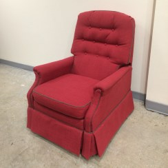 Gina's first (and last???) recliner - they are trickier than you think! Fabric and contrast fabric by Greenhouse