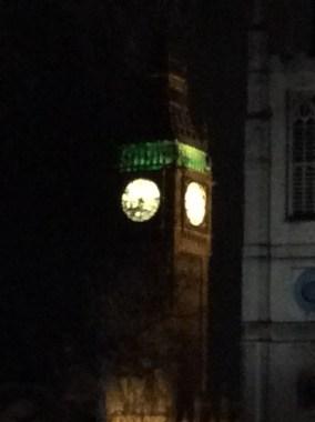 Even Elizabeth Tower is lit up!