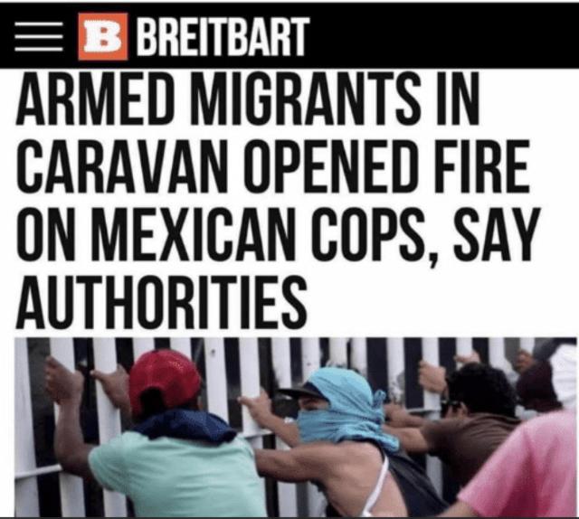 Migrants Open Fire