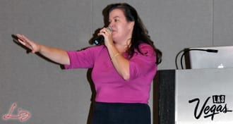 Wedding Entertainment Director® Elisabeth Scott Daley giving her seminar at the 2014 Las Vegas DJ Show.