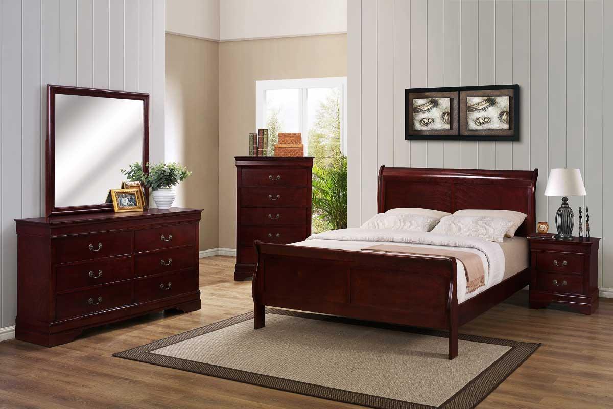Cherry Bedroom Set The Furniture Shack Discount