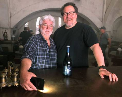George Lucas Makes a Surprise Visit to the set of Jon Favreau's The Mandalorian