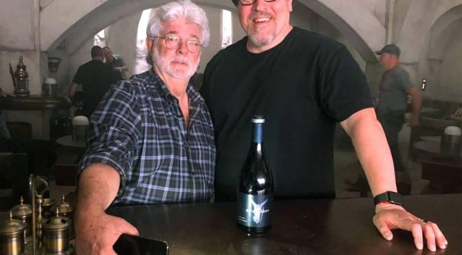 George Lucas Makes a Surprise Visit to the set of Jon Favreau's The Mandalorian