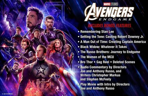 Avengers Endgame Bonus Features
