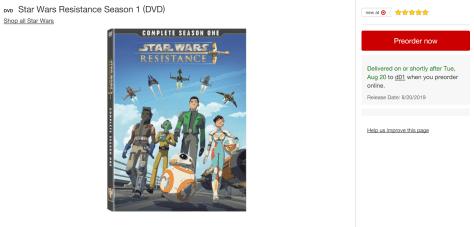 Star Wars Resistance   Season One DVD Release Date Confirmed