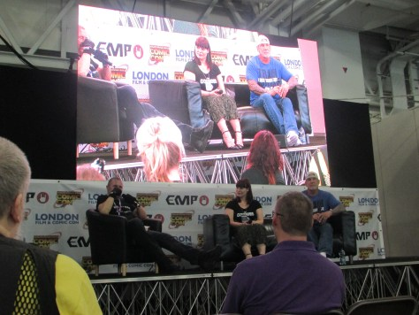 Kane Hodder and C.J Graham at LFCC
