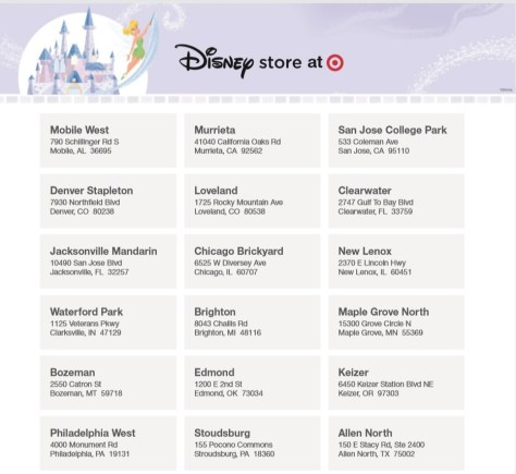 Disney to Open Smaller Scale Stores Inside Select Targets in October