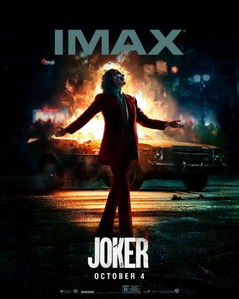 Joaquin Phoenix Basks in Anarchy in Joker IMAX Poster