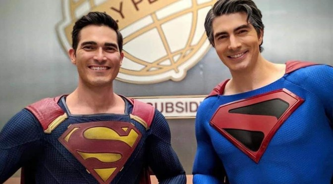Brandon Routh & Tyler Hoechlin get Super in New Crisis on Infinite Earths photo