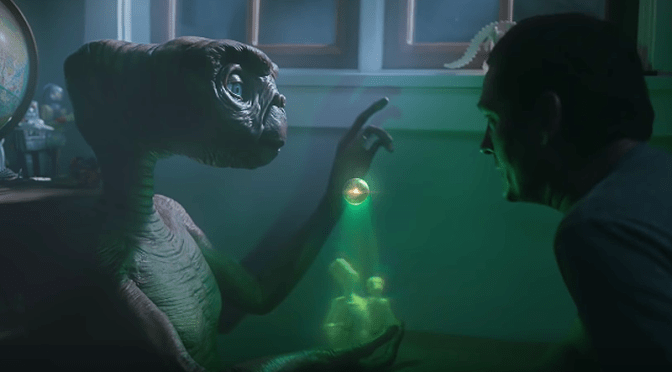 E.T Returns in Xfinity Ad
