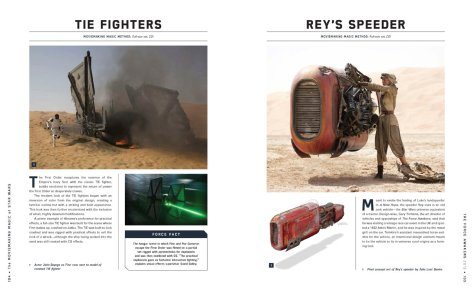 The Moviemaking Magic Of Star Wars: Ships + Battles TIE Fighters & Rey's Speeder
