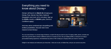 Disney Plus UK Launch Details