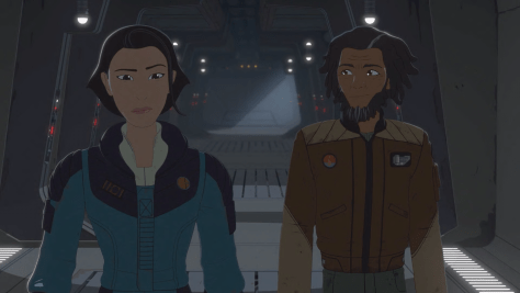 Star Wars Resistance Rebuilding The Resistance Yeager and Venisa
