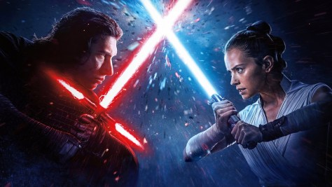 Rey and Kylo Ren - Star Wars The Rise of Skywalker