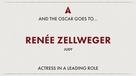 Best Actress: Renee Zellweger (Judy) - Oscars 2020