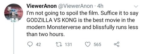 Godzilla vs Kong Reaction