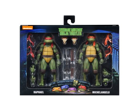 TMNT 1990 Raphael and Michaelangelo 2 Pack 001
