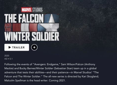The Falcon And The Winter Soldier Landing Page
