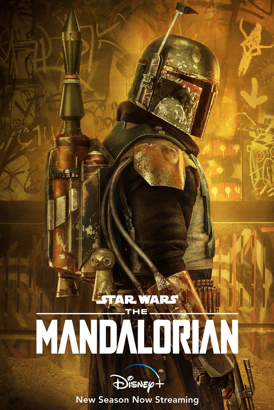 The Mandalorian Character Poster Boba Fett