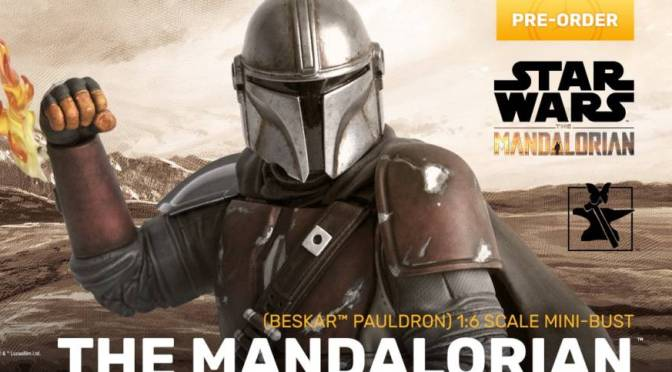 First Look | Gentle Giant The Mandalorian Beskar Pauldron Mini-Bust
