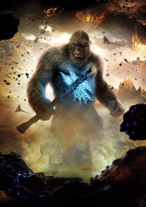 Godzilla vs Kong International Kong Poster Textless