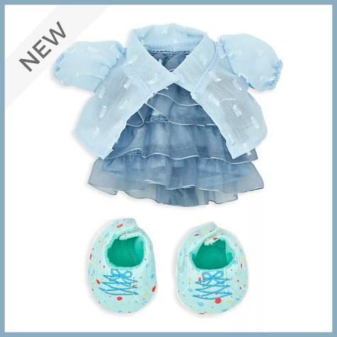 nuiMos Ruffled Blue Dress Set