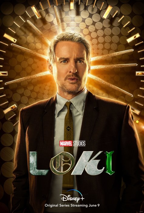 Loki Character Poster - Owen Wilson Agent Mobius