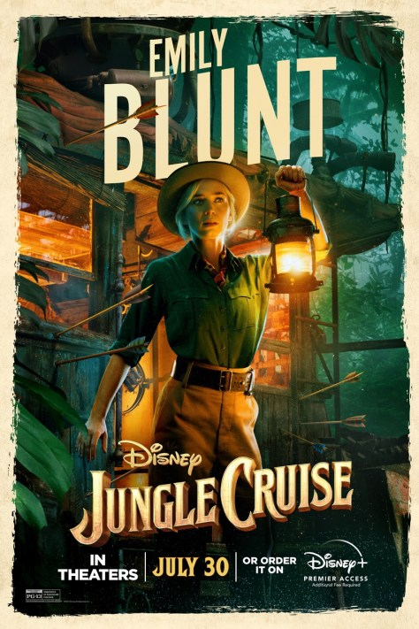 Emily Blunt Jungle Cruise Poster