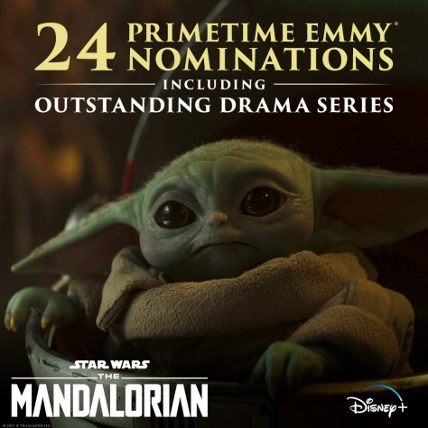 The Mandalorian Nominated for 24 Emmys