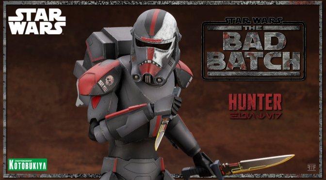 Kotobukiya Unveils New Star Wars: The Bad Batch Hunter ARTFX Statue