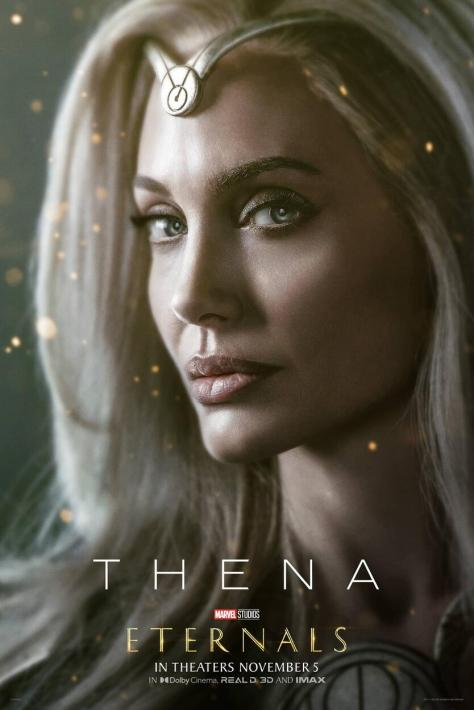 Eternals Character Poster Angelina Jolie as Thena