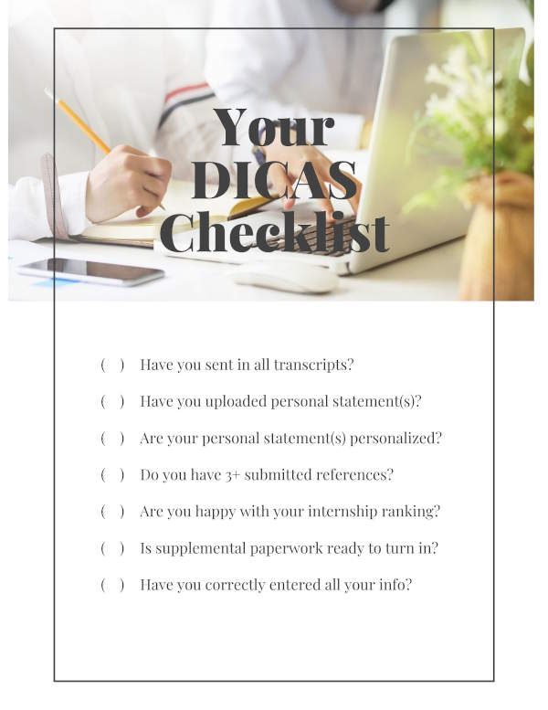 A list of 7 things to check for an amazing dietetic internship application. (Checklist items are the headings in this article)