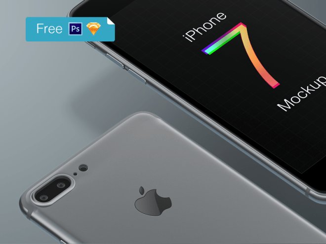 IPhone 7 Free Mockup for Sketch and Photoshop