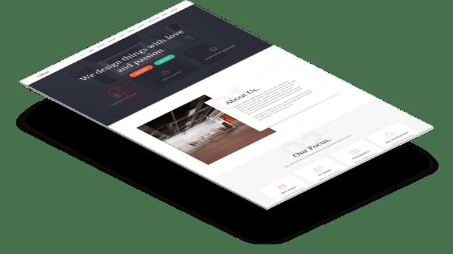 Alexis | Бесплатный одностраничный Bootstrap портфолио шаблон