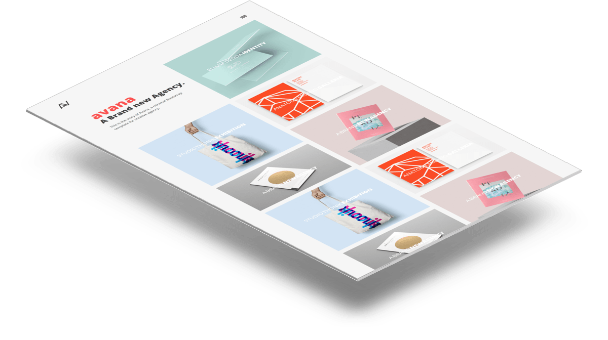 Avana   Минималистичный шаблон портфолио сделанный на Bootstrap