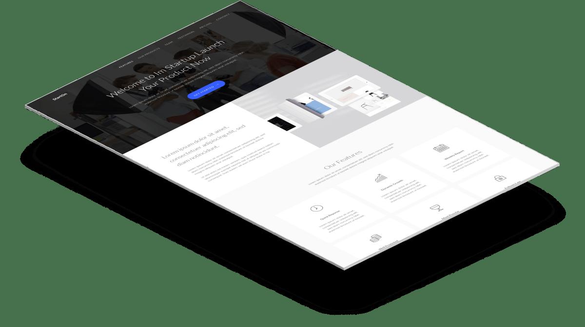 StartOn   Бесплатный Bootstrap шаблон который идеально подойдет для стартапа
